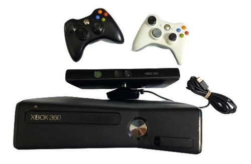 Xbox 360 slim 250gb disco duro 2 controles juegos fifa kinet