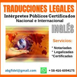 Traducciones legales inglés en toda venezuela