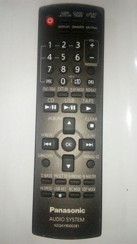 Control panasonic de equipo de sonido