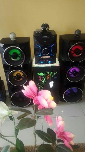 Equipo de sonido sony con luces de colores
