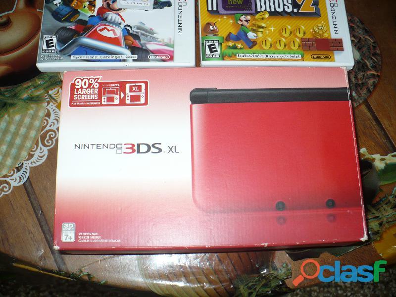 Consola Nintendo 3dsxl Con Juegos Y Accesorios Usado