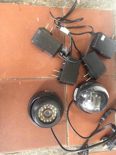 Cámaras de seguridad,cables y video balón, circuito (15dl)