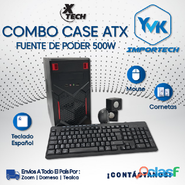 COMBO CASE ATX Marca: XTECH