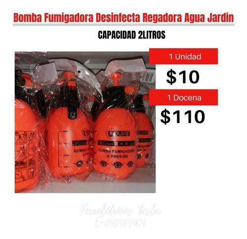 Bomba fumigadora aspersor desinfecta regadora x2