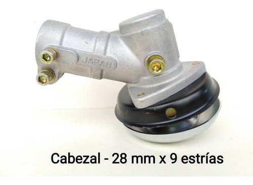 Cabezal cabezote (28 mm x 9 estrías). desmalezadora
