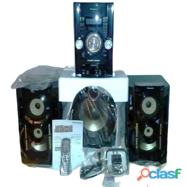Equipo de sonido panasonic sc akx72 900w rms/9900w p.m.p.o
