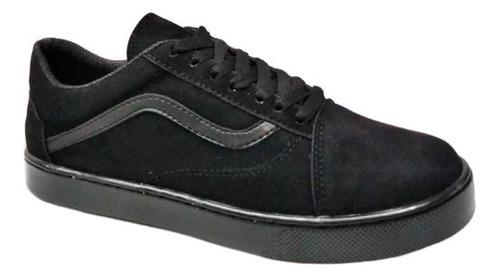 Zapatos vans off the wall caballeros clasicos negro zoom
