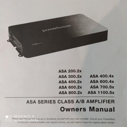 Amplificador powerbass asa 1100.5x 2200watts...