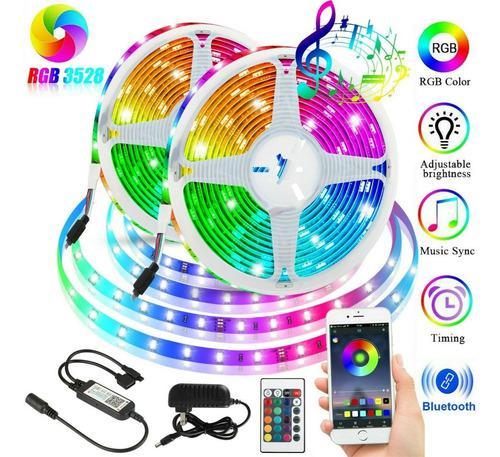 Cinta tira rollo led rgb 5050 bluetooth wifi multicolor (5m)