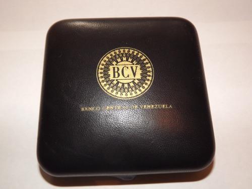 Estuche moneda oro reconversión monetaria bcv y certificado