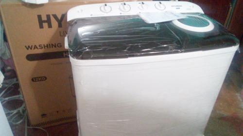 Lavadora hiunday semi automática 12kg