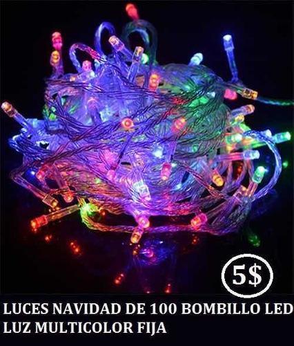 Luces de navidad led luz blanca 10mts 8 funciones