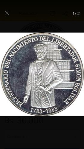 Moneda de plata colección bicentenario simón bolívar de