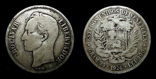 Monedas de plata años 1926 y 1936 (fuerte) de 25 grms