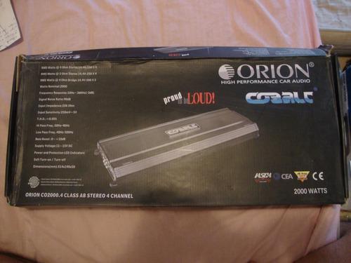 Planta o amplificador de sonido 4 canales 2000w orion