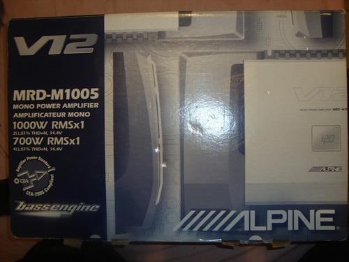 Planta o amplificador de sonido mono 1000w alpine mrd-m1005