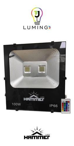 Reflector led rgb 100w c/control ip66 100 l/w 85/265v hammer