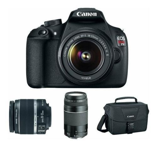 Canon eos rebel t5/eos digital slr kit len18-55mm 75-300mm