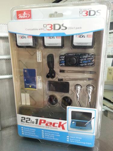 Kit accesorios nintendo 3ds 22 en 1