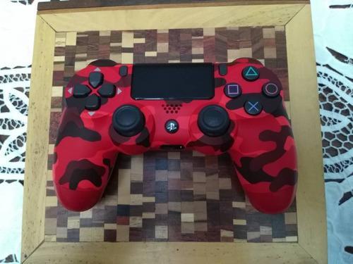 Mando playstation 4 camuflado color rojo