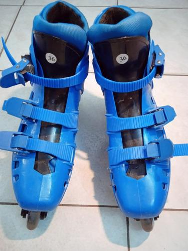 Patines lineales marca chicago color azul talla 36