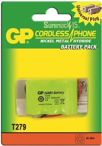 Bateria para telefono inalambrico t-279 3.6v 600mah 2 cables