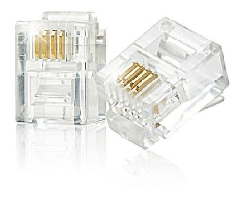 Conector rj11 para telefono (10 uni)