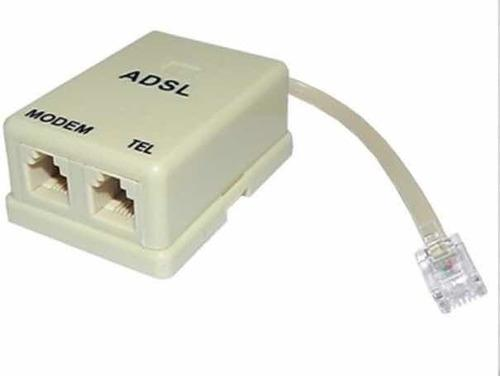 Filtro adsl para internet y teléfono fijo (2 unidades)