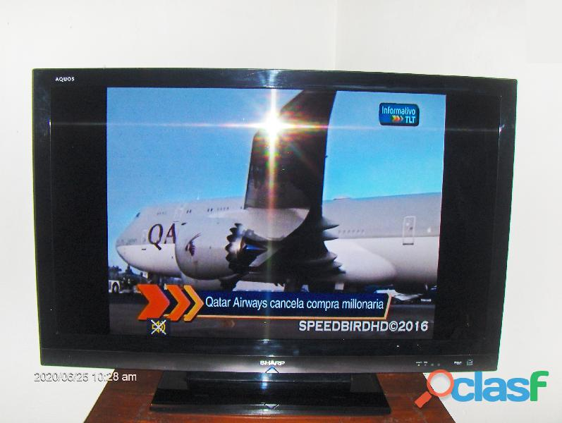 "Televisor Sharp Aquous. 37"" 1"