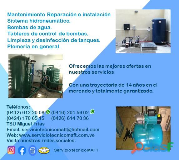 Instalación reparación de hidroneumáticos de agua en caracas