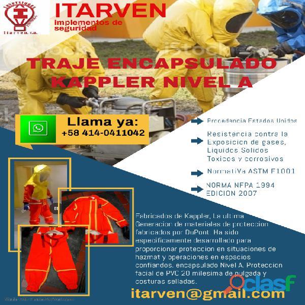 trajes para manipulación de quimicos