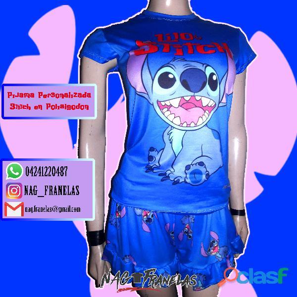 Pijamas sublimadas personalizadas + short corto 1