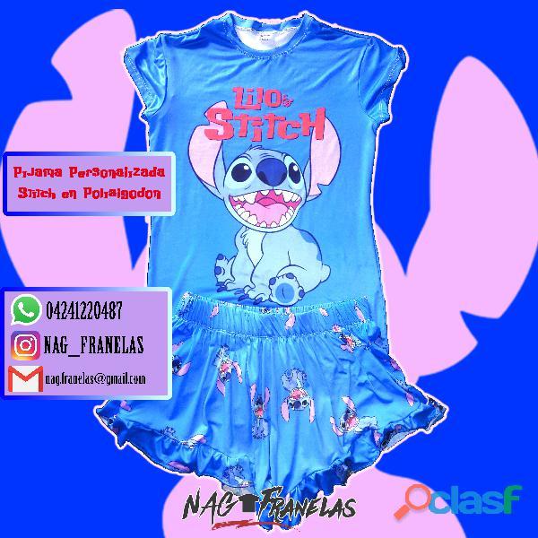 Pijamas sublimadas personalizadas + short corto 2