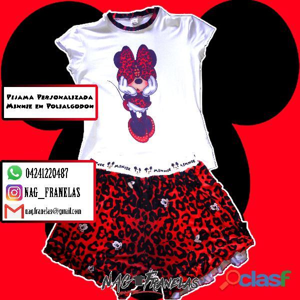 Pijamas sublimadas personalizadas + short corto 3