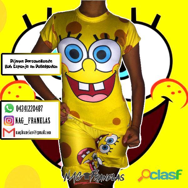 Pijamas sublimadas personalizadas + short corto 4