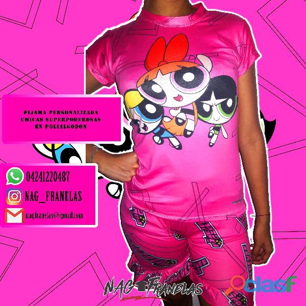 Pijamas sublimadas personalizadas + short corto 5