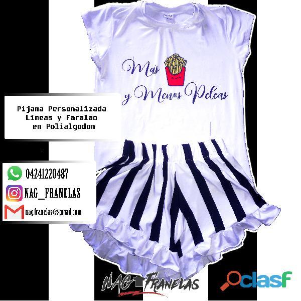 Pijamas sublimadas personalizadas + short corto 6
