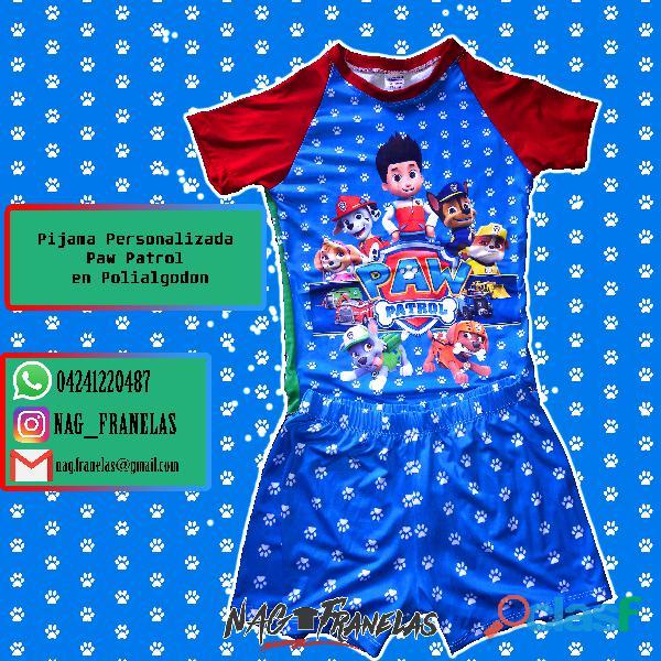 Pijamas sublimadas personalizadas + short corto 8