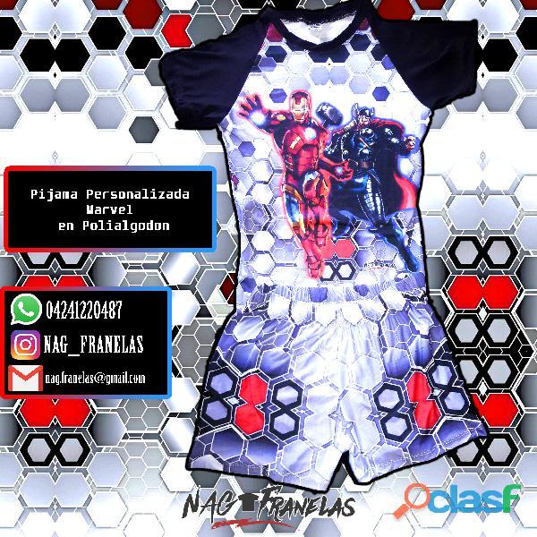Pijamas sublimadas personalizadas + short corto 9