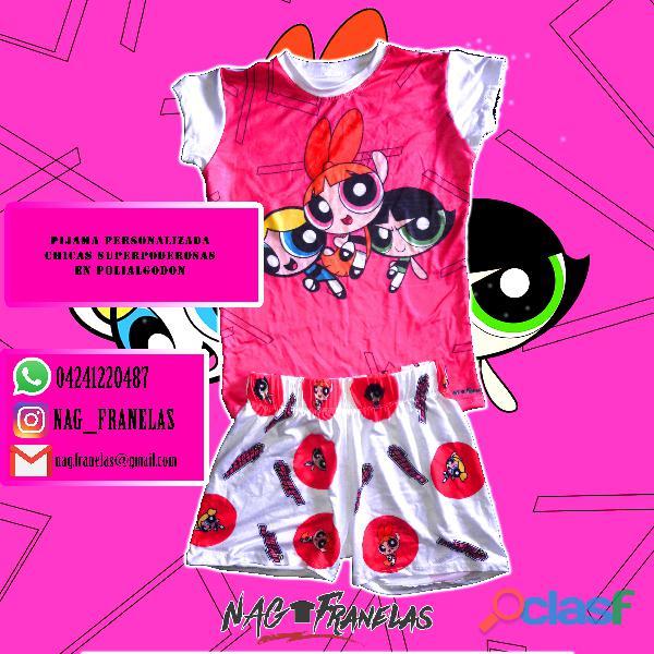 Pijamas sublimadas personalizadas + short corto 10