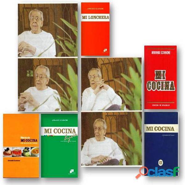 VENTA DE 3 LIBROS DE COCINA DE ARMANDO SCANNONE