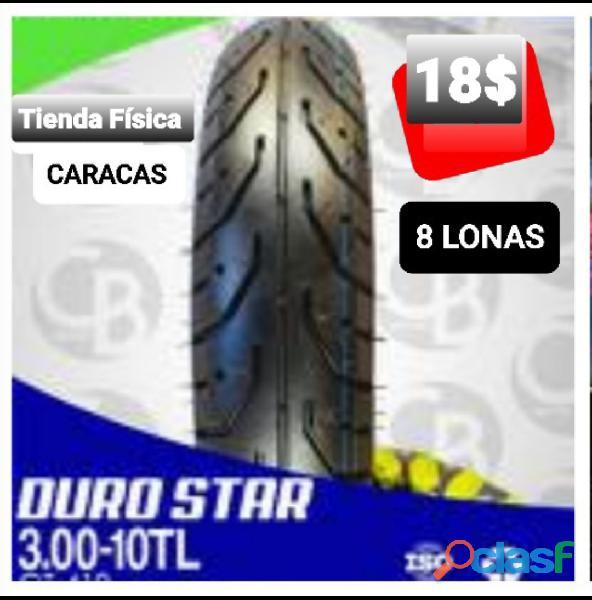 Cauchos 300 10 Duro Star 18$, tenemos otras medidas y marcas