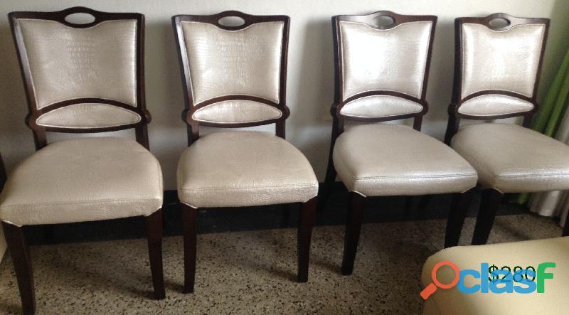 Vendo bellas sillas de madera