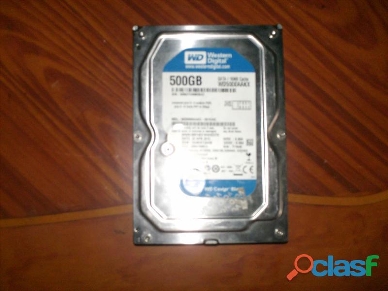 Discos duros 500 gb 2 unidades
