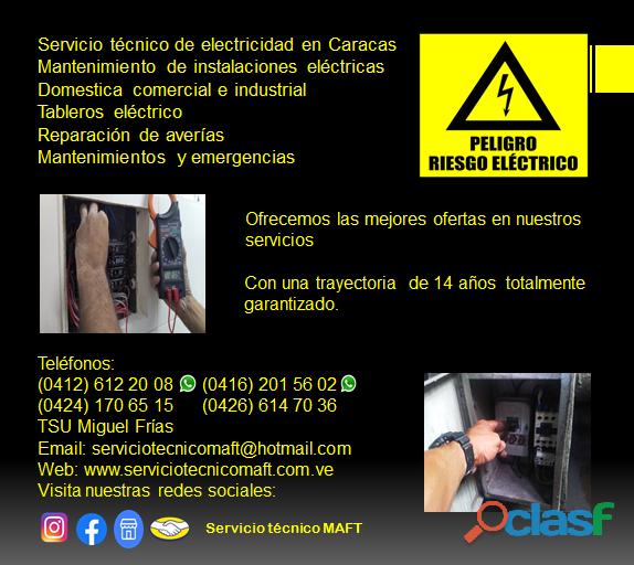 Técnico electricista en Caracas