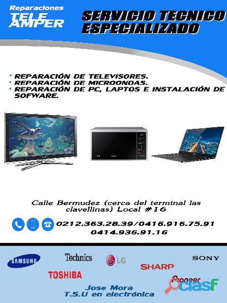Reparaciones tele amper audio y video