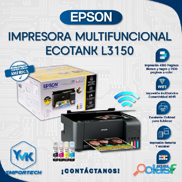 Impresoras Epson Ecotank Multifuncional L3150.