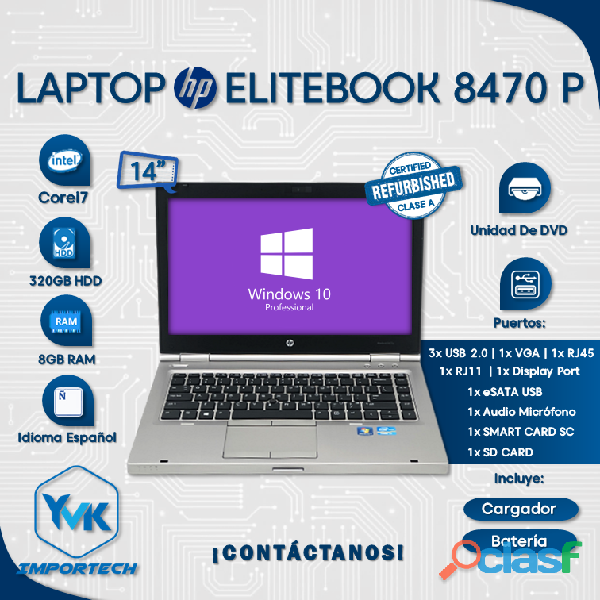 LAPTOP HP ELITEBOOK 8470P
