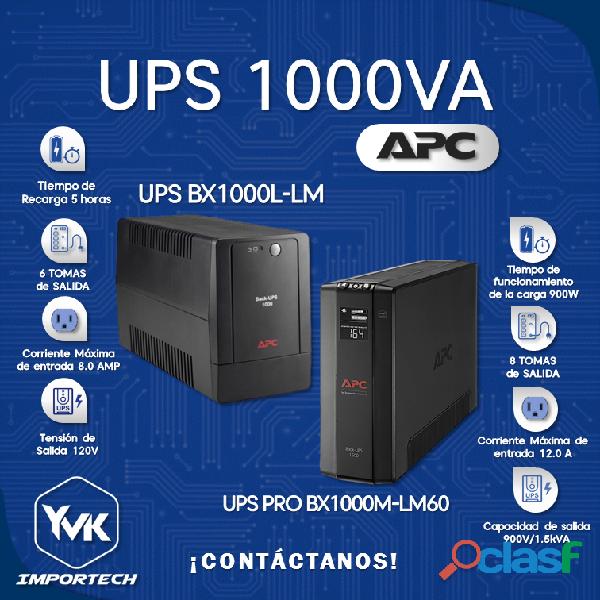 UNIDAD BACK UPS 1000VA