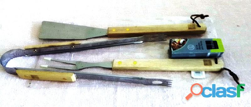 Set de utensilios para parrilla